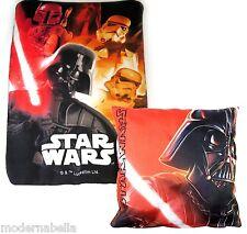 Star Wars Vader set regalo Coperta Plaid in Pile + Cusino ,bambino disney