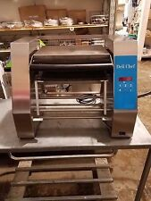DELI CHEF A-2 AUTOMATIC PANINI PRESS 230 VOLTS, FRONT EJECTION WITH GROOVED PLAT