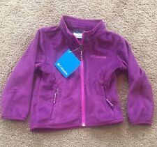 NWT Columbia Girls Fast Beauty Full Zip Soft Plush Fleece Jacket Purple Sz: 2T