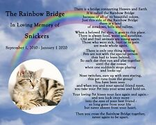 Personalized Rainbow Bridge Pet Loss Memorial Poem Dog Cat 8x10 Print with PHOTO
