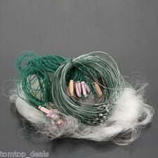 25m 3 Layers Chemical Fiber Monofilament Fishing Fish Gill Net with Float NEW