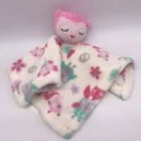 """12"""" Magic Years PINK OWL Lovey SECURITY BLANKET FLOWERS plush stuffed baby toy"""