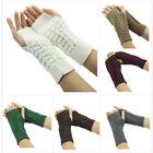 Unisex Crochet Braided Wrist Hand Arm Warmer Knitted Mitten Fingerless Gloves