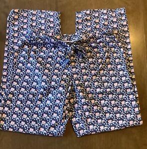 Vineyard Vines Women's Christmas Whale Cotton Pajama Lounge Pants Size XS