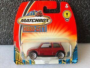 MATCHBOX MB75 RED MINI COOPER S 2003 SHORT CARD