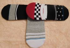 No Show Thick Designed Sock Liners by Charles Albert (3 Pairs)-Multiple Colors