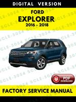 Ford Explorer 2016 2017 2018 Factory Service Repair Workshop Manual