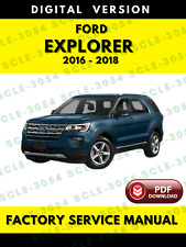 Ford Explorer 2016 2017 2018 Factory Service Repair Workshop Manual