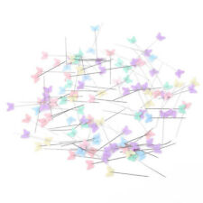 100X Patchwork Pins Butterfly Head Pins DIY Quilting Sewing Accessories Cute