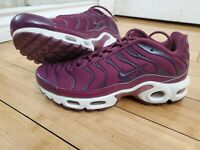 Nike Air Max Plus Tuned TN Women's Bordeaux Summit White Size 6.5 AV7912-600