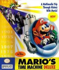 Mario's Time Machine Deluxe Pc Cd popular Nintendo character kids history game!