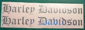 Harley Davidson Alt Deutsch Aufkleber in Div.Farben 30 ×3.8 cm.Top Neu 2 Stück