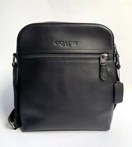 Coach * Men's Bag F68014 QB/BK Houston Flight Smooth Black Leather