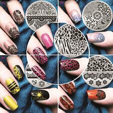 Hot! Nail Art Stamp Stencil Stamping Template Plate Set Tool Stamper Design Kit