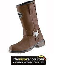 """Held """"NEVADA II"""" Chopper Waterproof Motorcycle Boots - BROWN - EU45 UK10"""
