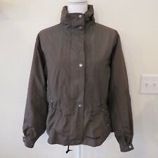 Sunice Gore Tex Golf Jacket Coat Rain Nylon Brown Plaid Hooded Size Small Womens