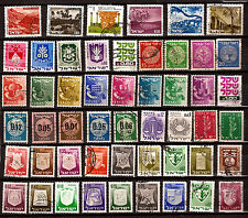 ISRAEL  51 timbres, Paysages,divers et usages courants    82m266A