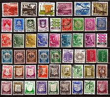 ISRAEL  51 timbres, Paysages,divers et usages courants    82m266A