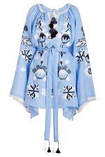 Ukrainian embroidered light blue dress boho - folk ethnic vyshyvanka. All sizes