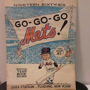 Vintage 1966 Mets Yearbook Shea Stadium