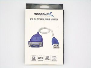 SABRENT COMPUTER USB 2.0 TP SERIAL CABLE ADAPTER CB-DB9P