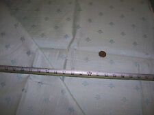Vintage Sewing Craft Decorator Upholstery Drapery Fabric Blue Floral Lined 2Y