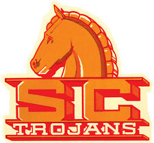 USC    Southern California    Trojans round  Vintage Looking souvenir  Sticker