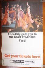 1967 Inter City Heart of London Original Railway Travel Poster