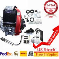 49CC 4-Stroke Gas Petrol Motorized Bike DIY Engine Motor Kit Scooter+Chain Drive