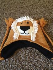 Brown Lion Beanie Hat One Size Fits Most By D&Y GXN