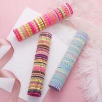 50PCS/Lot Girls Cute Colorful Basic Elastic Hair Bands Sale^
