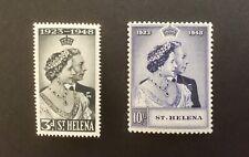 St Helena 1948 Silver Wedding Complete Set of 2 LMM