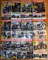 12x Custombike 2017 komplett Zeitschrift Motorrad Harley Shopper Yamaha Honda
