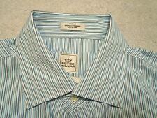 Peter Millar Crown Sport Summer Comfort Blue Striped Sport Shirt NWT $135 Medium