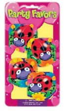4Pk Note Book PARTY BAG FILLERS Favors Loot Gift Ladybug Ladybird Mini Notepads