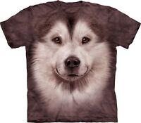 Alaskan Malamute Dog Face Dogs T Shirt Kids Unisex The Mountain Large Boys Girls