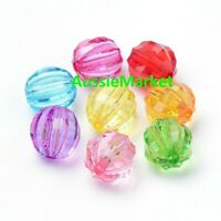 50 x corrugated beads 8mm mixed colours colors acrylic plastic jewellery crafts