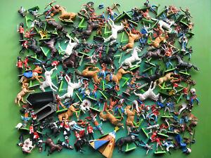Britains DEETAIL Timpo Toys Cowboys Indianer Ritter Soldaten Figuren Pferde 1:32