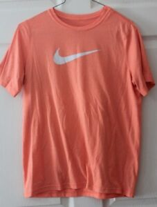 NIKE The Nike Tee youth t-shirt size XL short sleeve orange gray Swoosh Dri-Fit