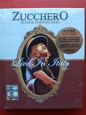 zucchero sugar fornaciari live in italy box rare 2 cd + 2 dvd 2008 cds dvds xxx