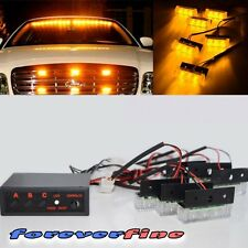 18 Led PICKUP TRUCK SAFETY STROBE FLASHING AMBER LED PANEL DASH EMERGENCY LIGHT