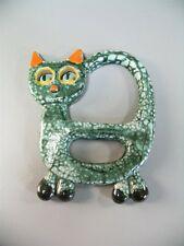 Keramik Katze Wandmaske Wandschmuck zum Hängen 50er 60er Jahre Wall mask Design