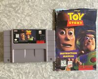 SNES Disney's Toy Story Super Nintendo Cartridge w/ Manual Cleaned & TESTED