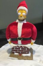 2004 Gemmy The Simpons Talking Homer Simpson Santa Claus Stuck In Chimney Works!