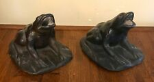 Matched Pair Antique Bronze Frogs for Water Fountain
