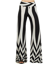 Fashion Women Boho Chevron Print Yoga Palazzo Pants Large