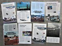 15x BEECHCRAFT LIGHT AIRPLANE AIRCRAFT Vintage Magazine Page Advertisements Ads