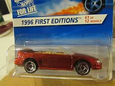 """Hot Wheels 1996 Mustang GT 1996 First Editions """"Coolest to Collect"""" on Card"""