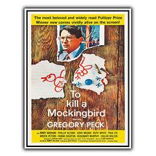 To Kill a Mockingbird Métal Signe Plaque Murale Film Film PUB Poster Art Print
