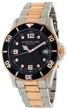 Stuhrling 158 332241 Clipper Rotating Bezel 16k RGP Mens Watch